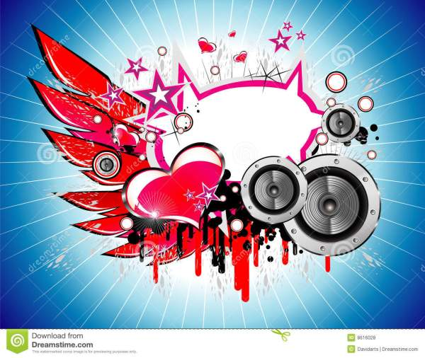 Music and Love background stock vector. Illustration of ...