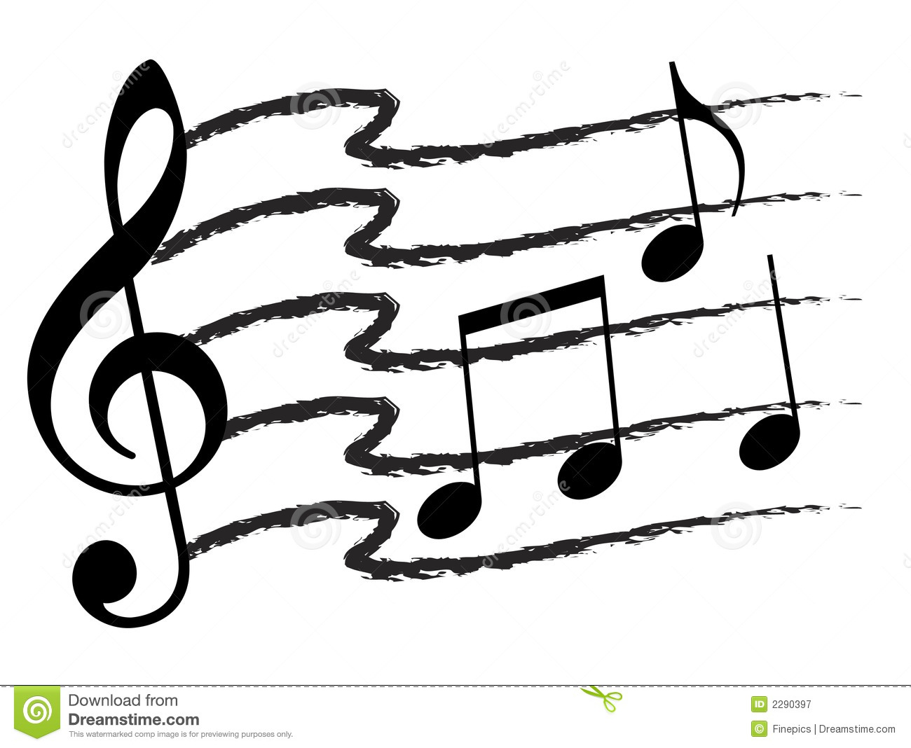 Music Note Collage Stock Photos