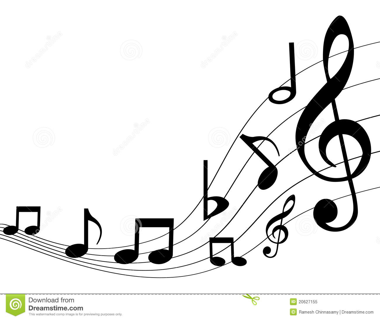 Music Notes Stock Vector Illustration Of Composer Modern