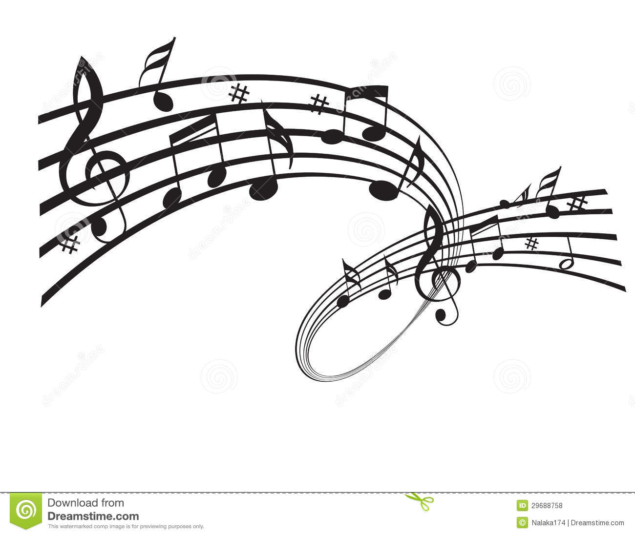 Music Notes Stock Vector Image Of Instrument Black