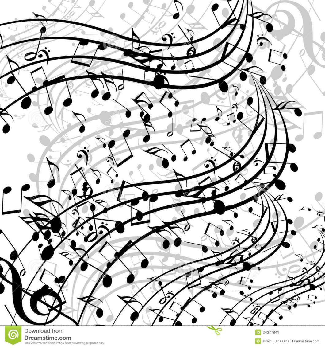 Musical Note Black And White Wallpaper Liner Notes Png Music Stock Ilration Of Flow 34377841