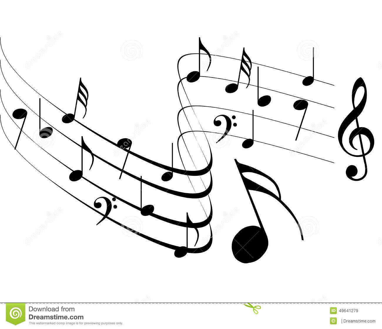 Music Notes Design Stock Vector