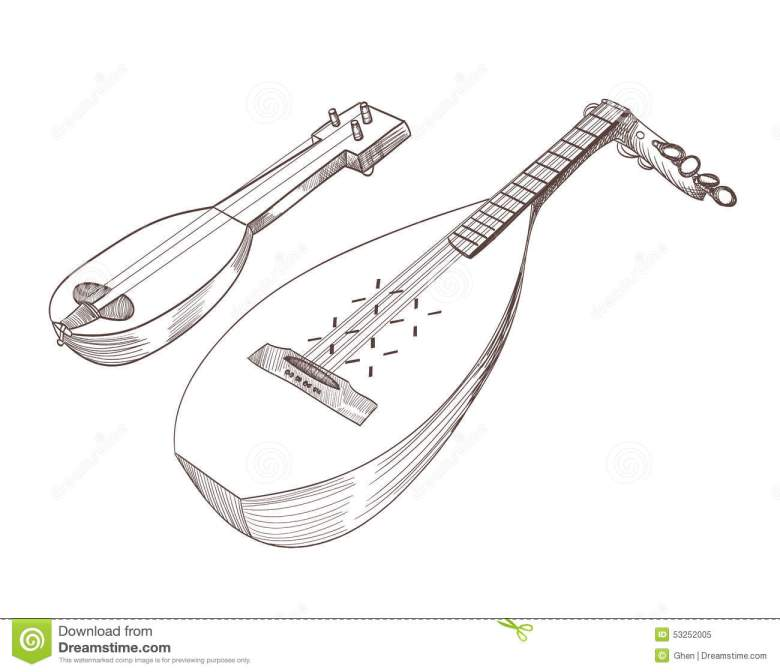 musical stringed instruments stock vector - illustration of folk