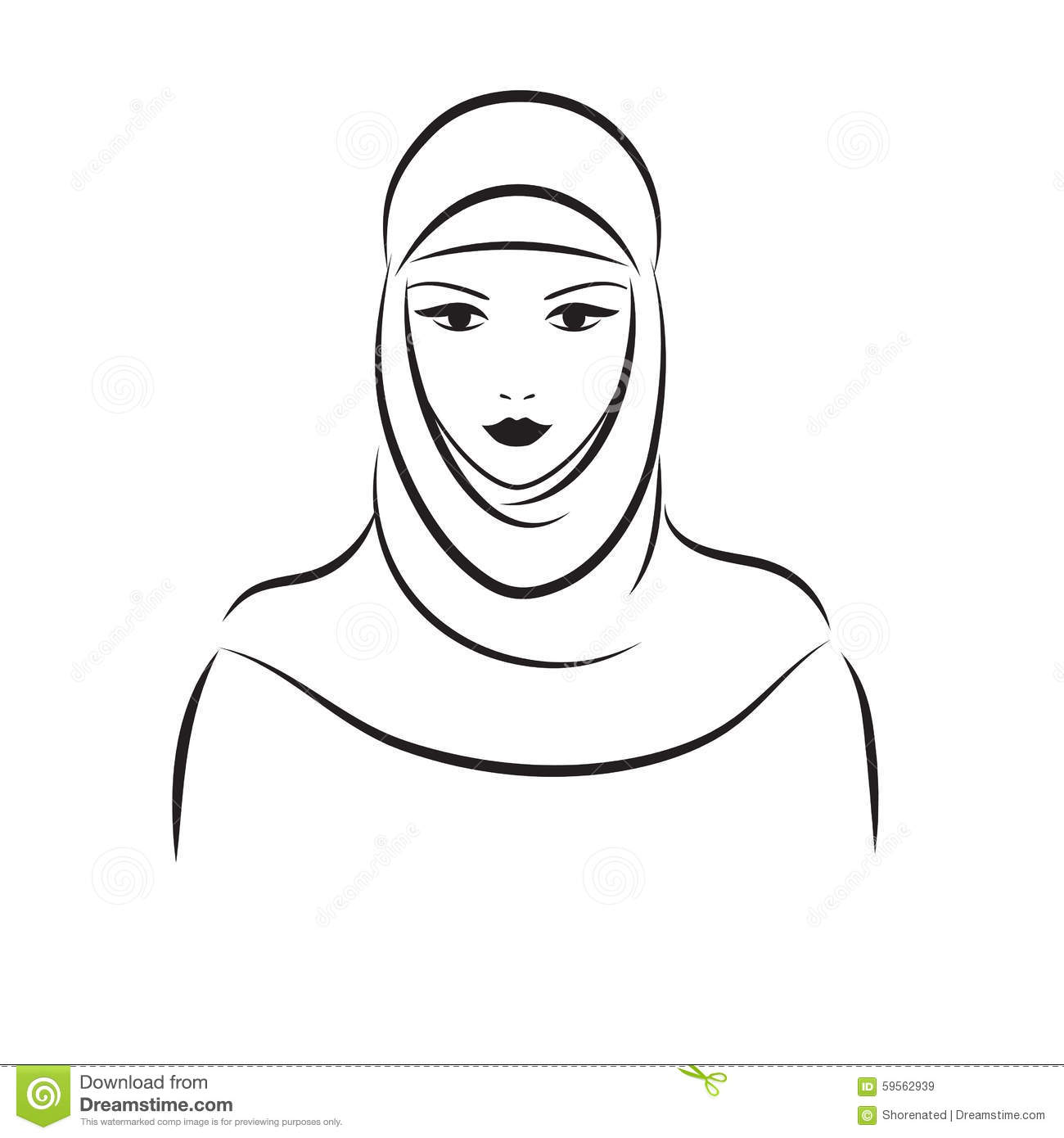 Muslim Woman Stock Vector Illustration Of Arabian