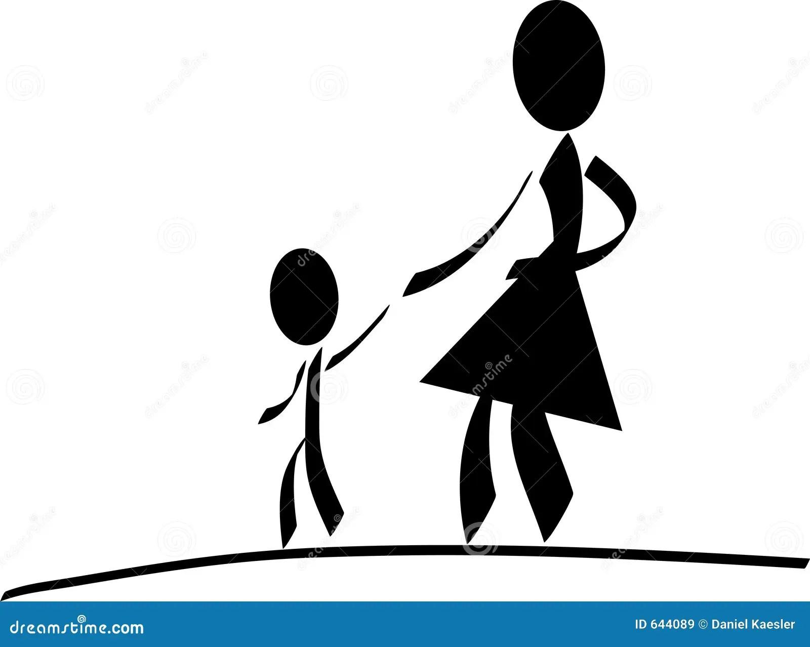 Mutter Mit Kind Stock Abbildung Illustration Von Kind