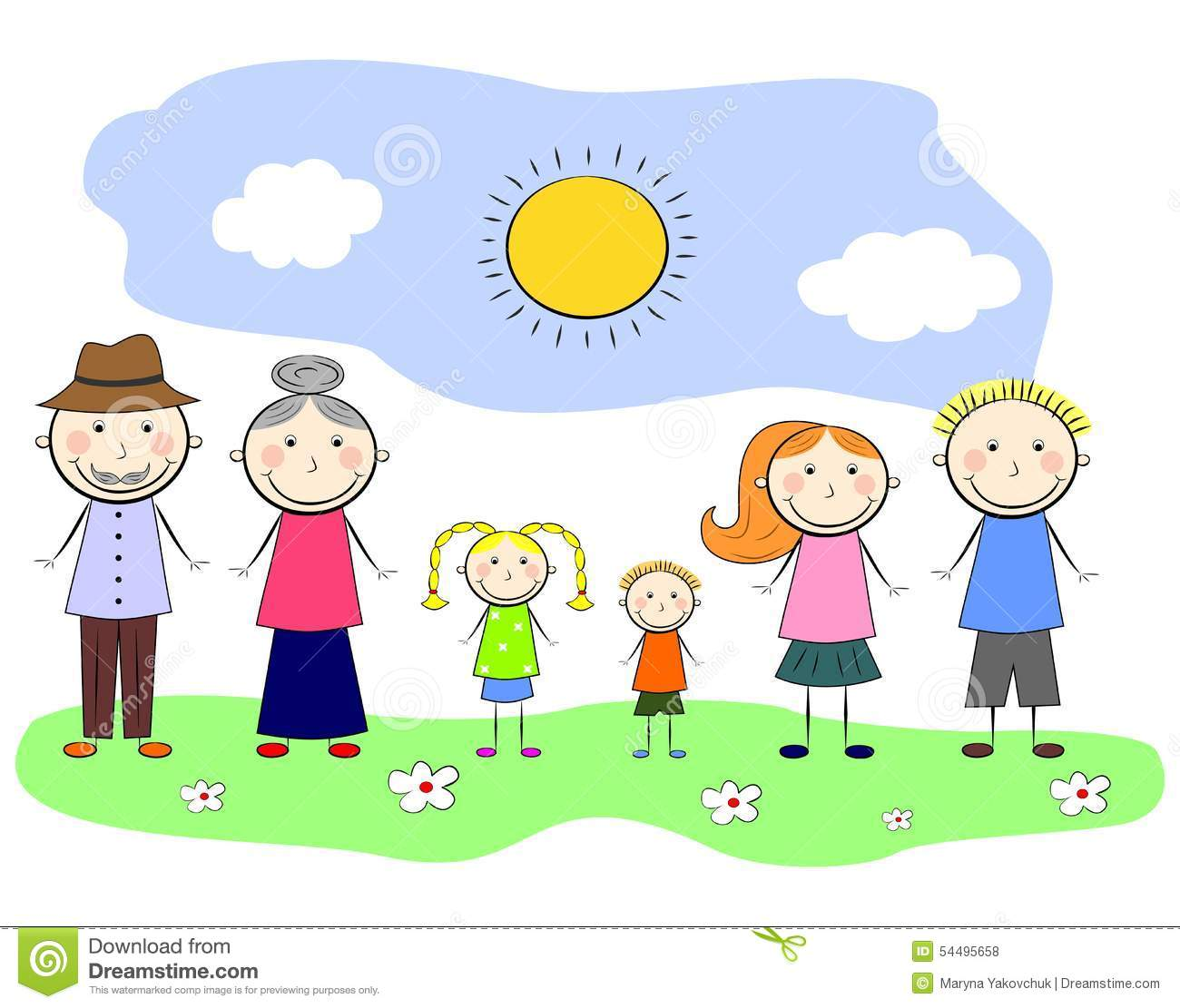 My Family Stock Vector Image Of Comics Concept Baby