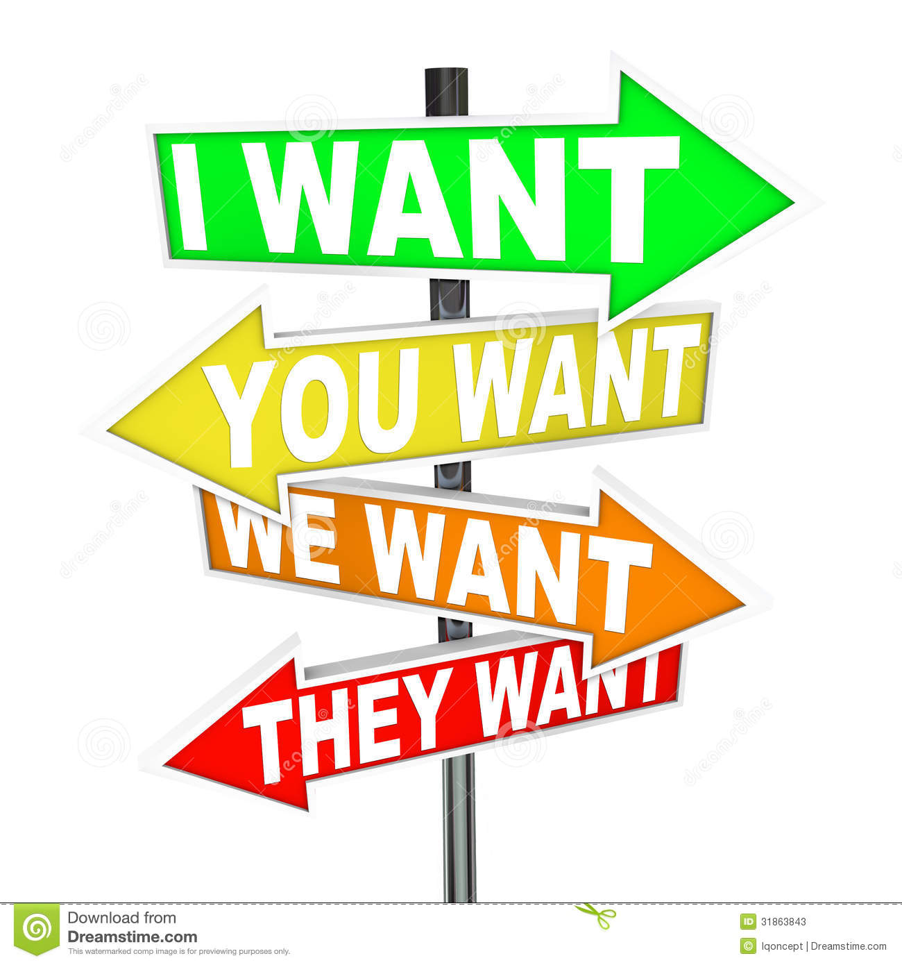 My Wants And Needs Vs Yours