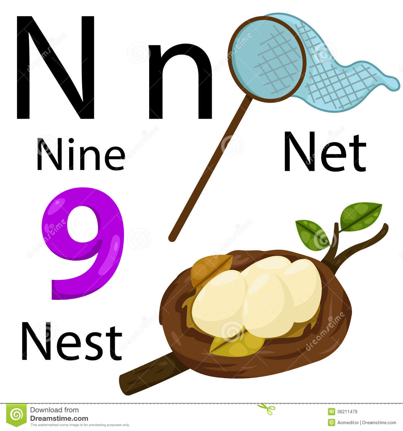 N Alphabet Royalty Free Stock Images