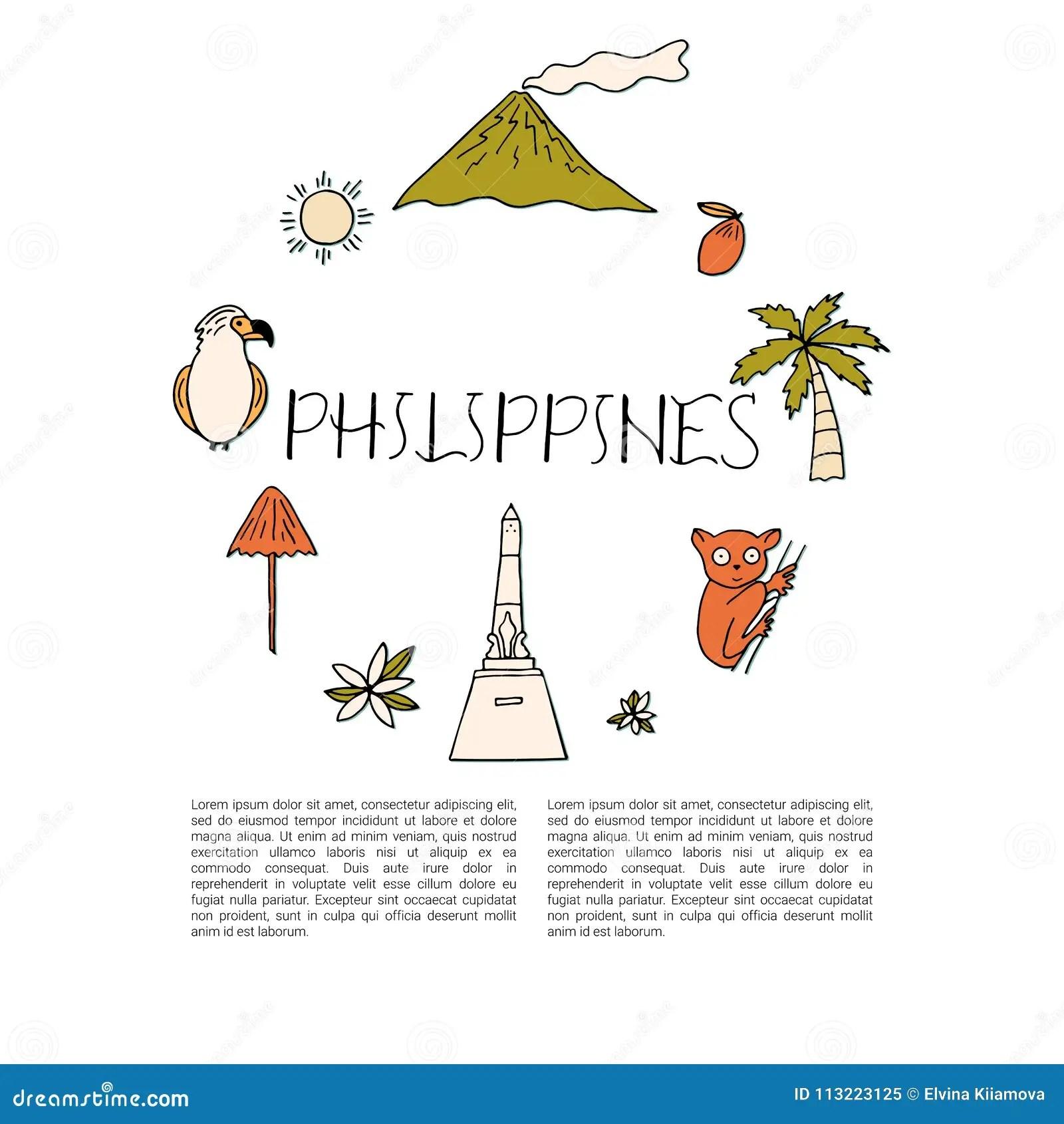 National Symbols Of Philippines Stock Illustration