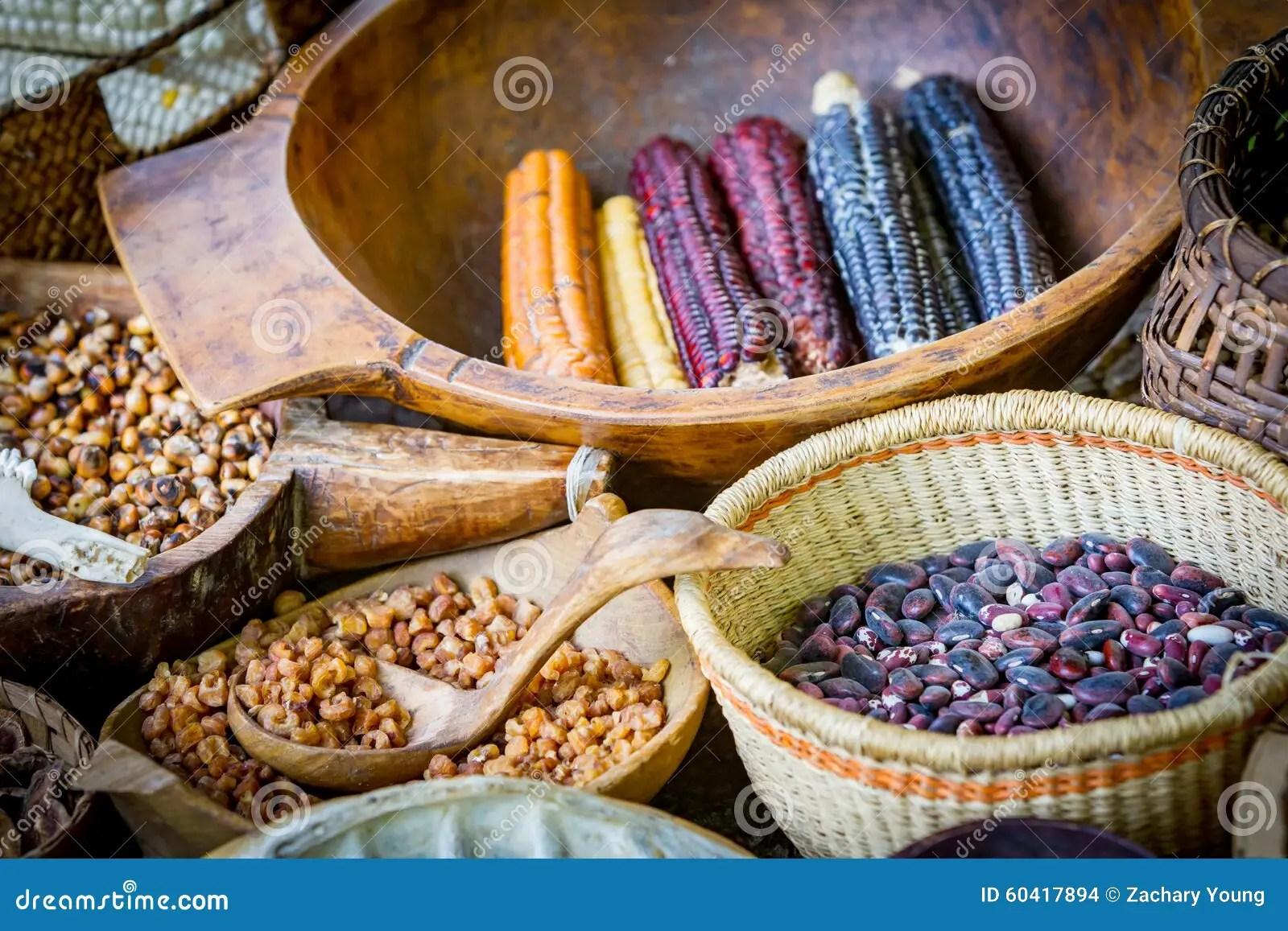 Native American Food Market Stock Photo