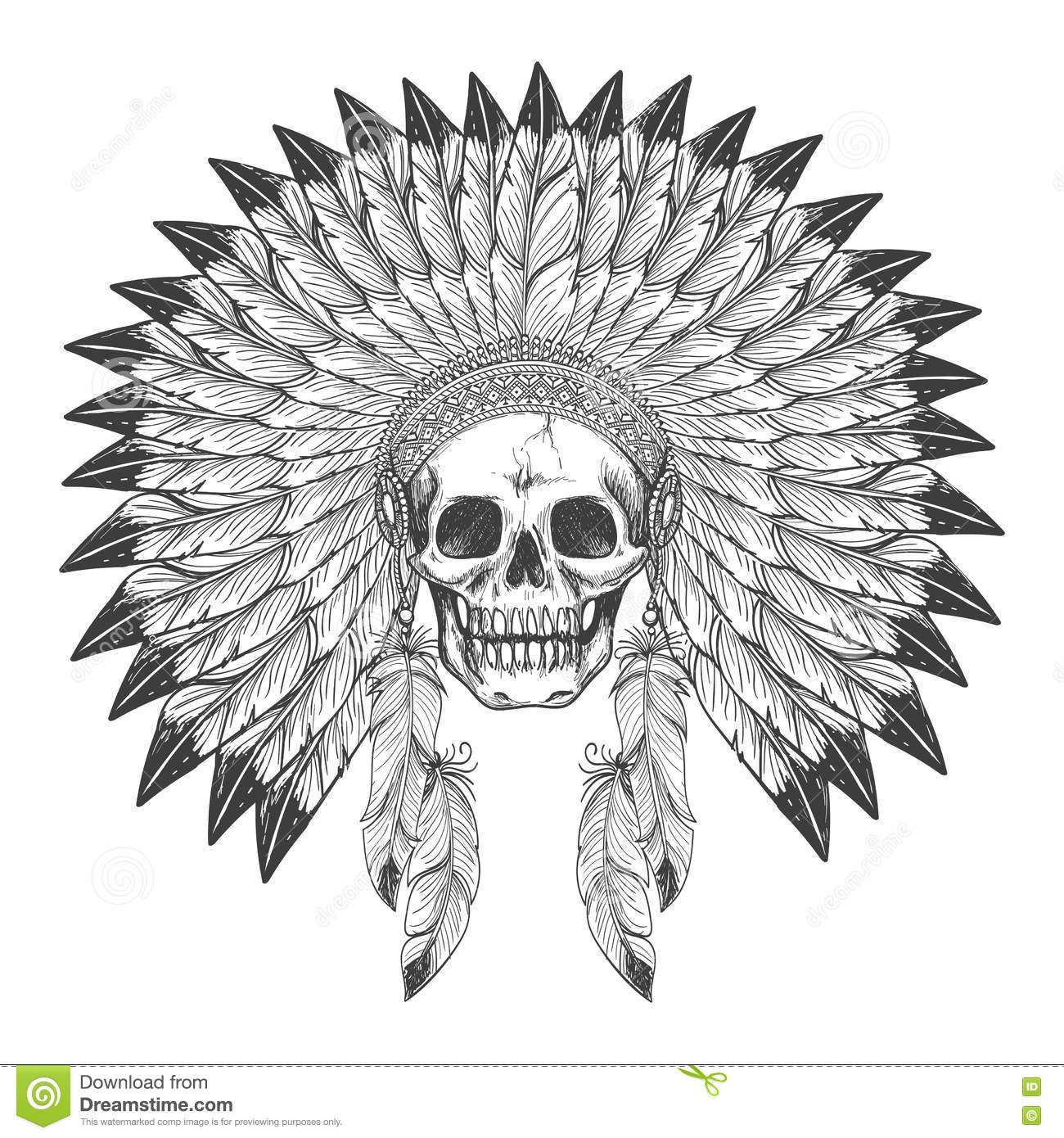 Native American Indian Headdress Icon Cartoon Vector