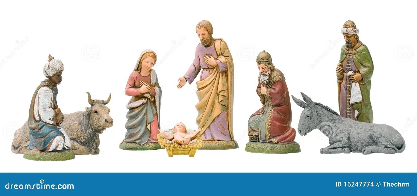 Nativity Set Isolated Stock Photo Image Of King Figure
