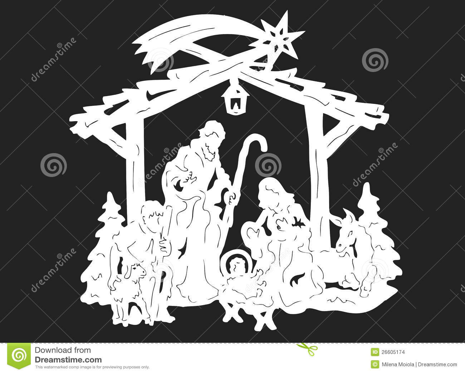 Nativity Silouetter