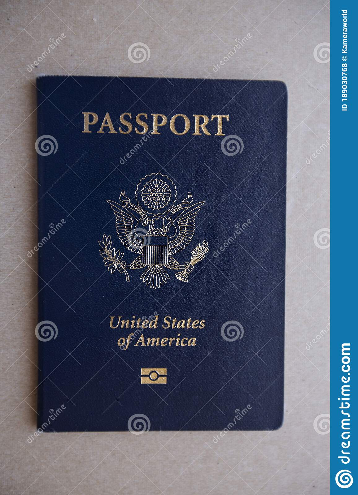 Cover Of United States Of America Passport Stock Photo