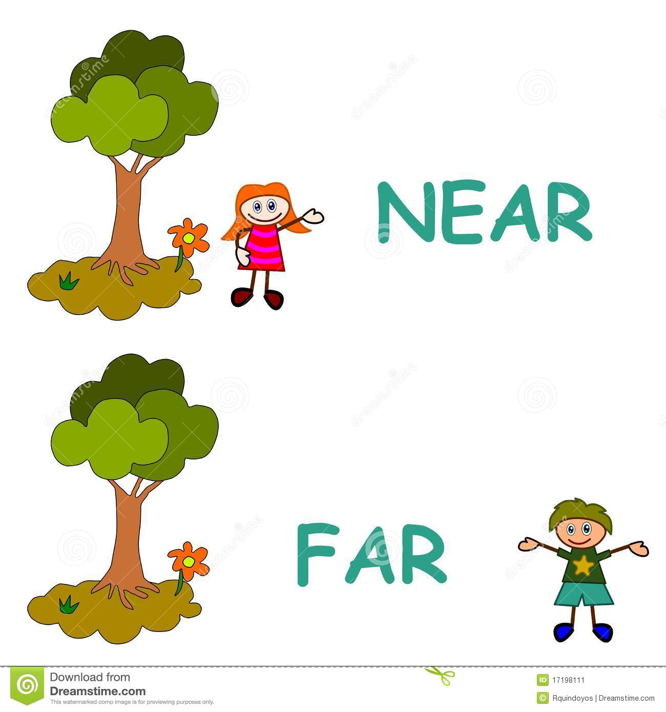 Near And Far Stock Vector Illustration Of Learning