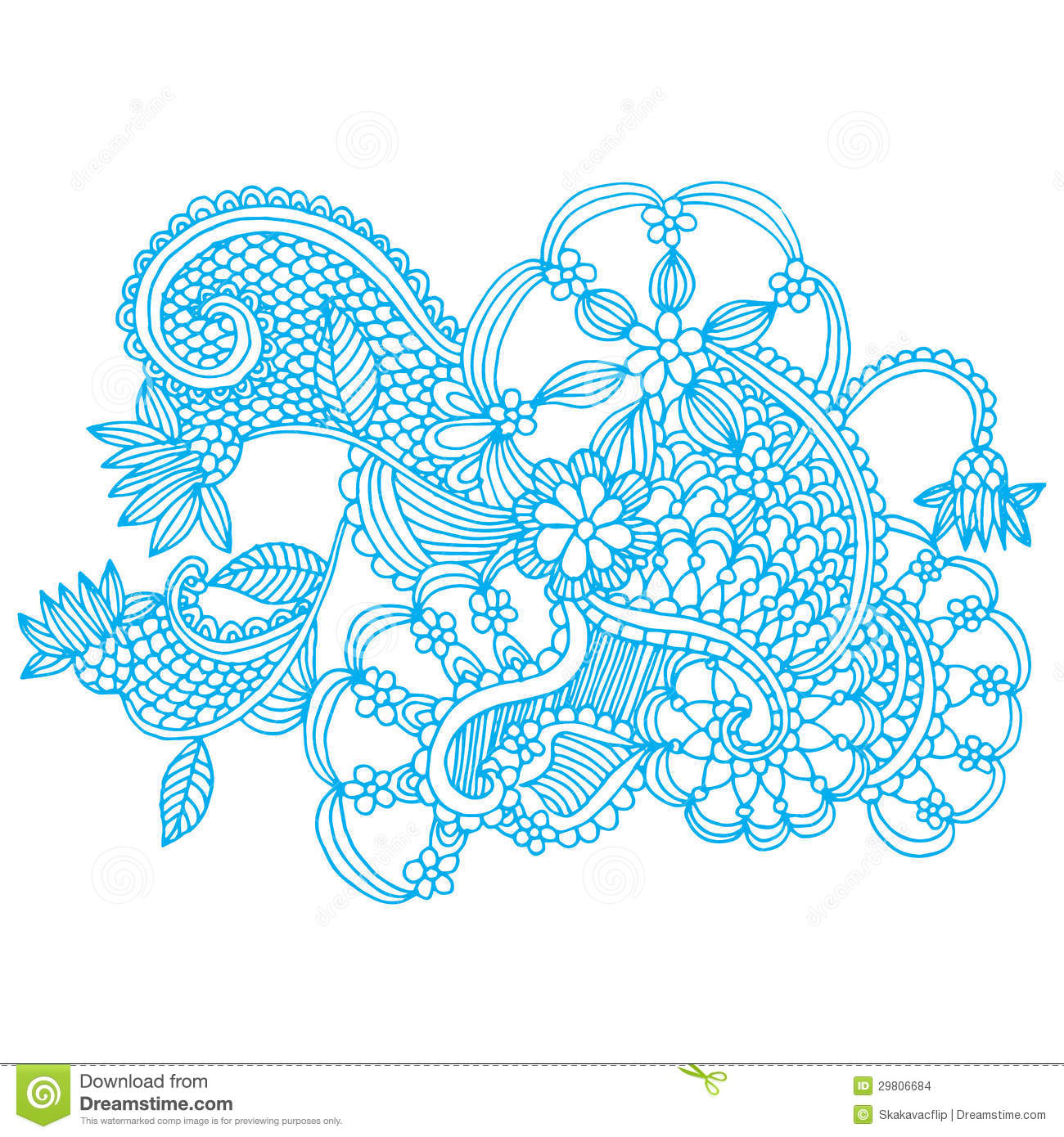 Neckline Embroidery Design Stock Illustration Image Of