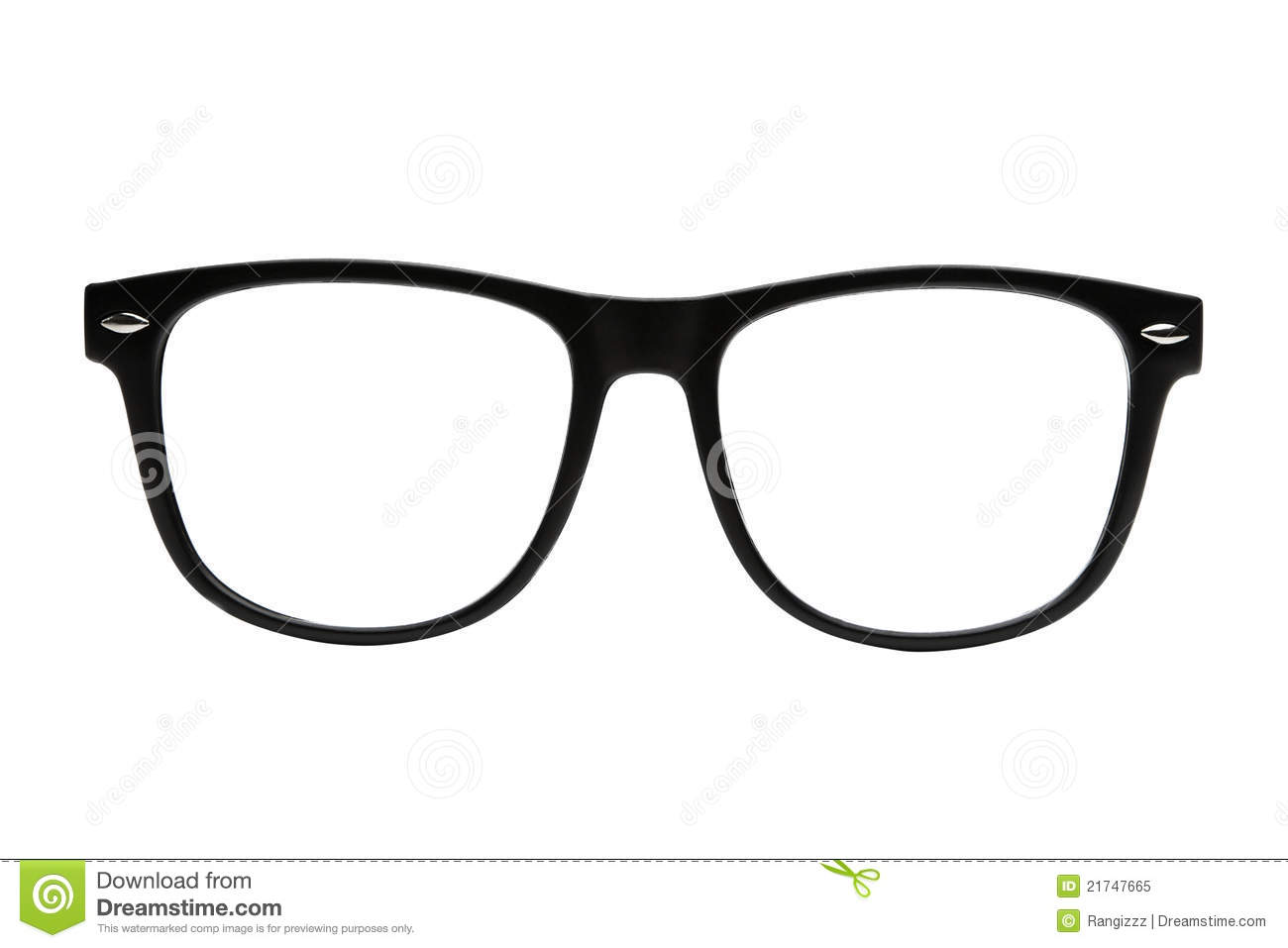 Nerd Frames Isolated With Clipping Path Royalty Free Stock