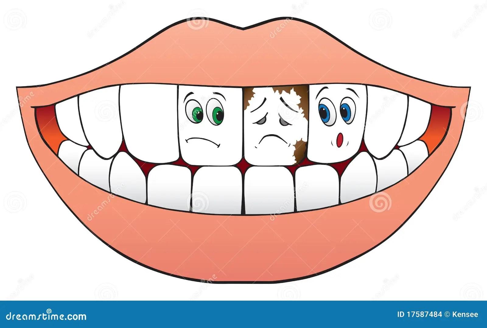 Nervous Teeth Stock Vector Illustration Of Frightened
