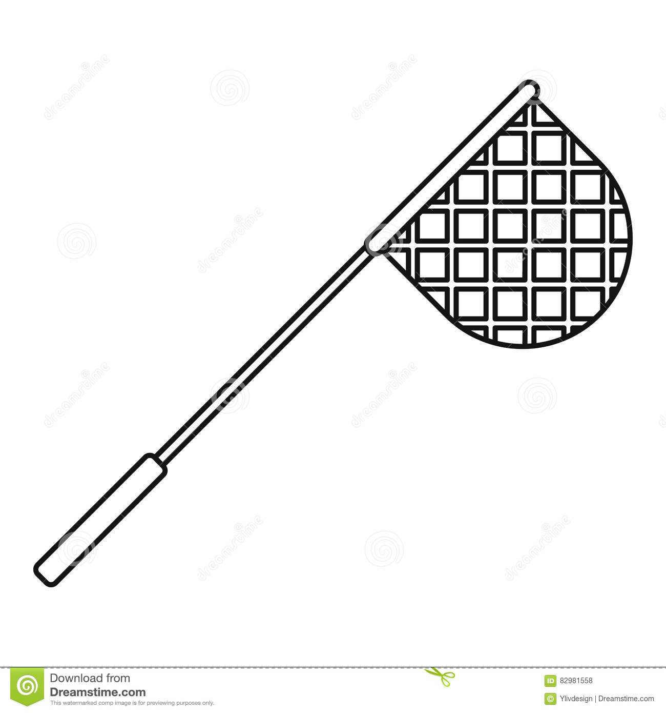 Net For Fishing Icon Outline Style Stock Vector