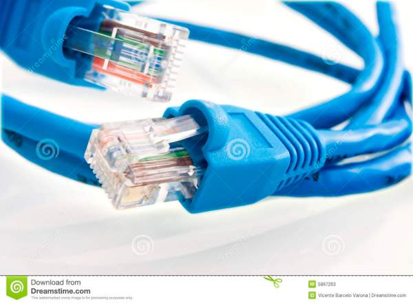 Network cable RJ45 stock image Image of closeup