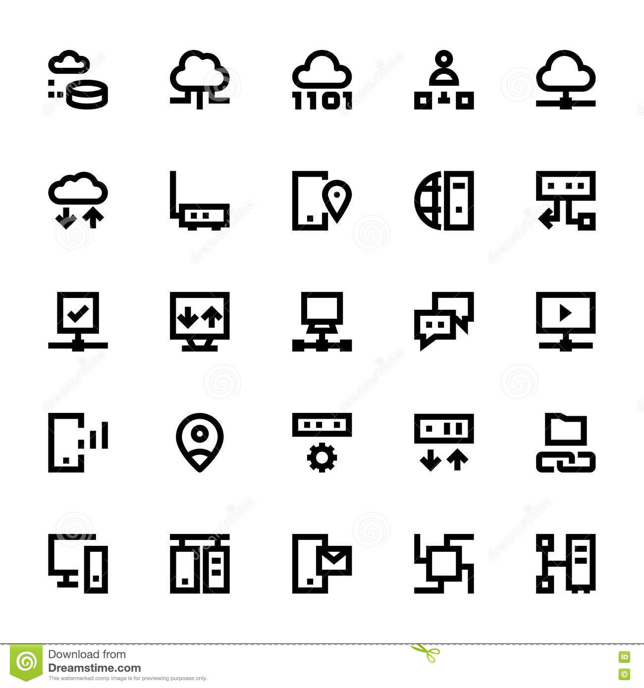 Network Technology Vector Icons 4 Stock Illustration