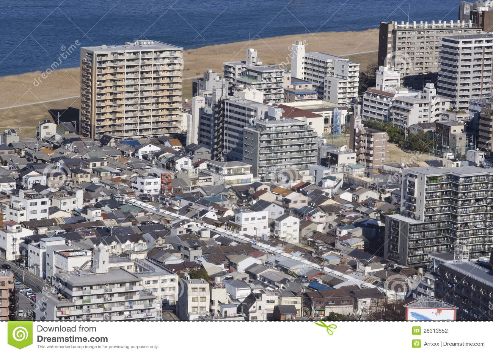 Neue Und Alte Japanische Häuser Redaktionelles Stockfotografie