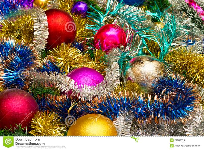 New Background Of Christmas Ornaments