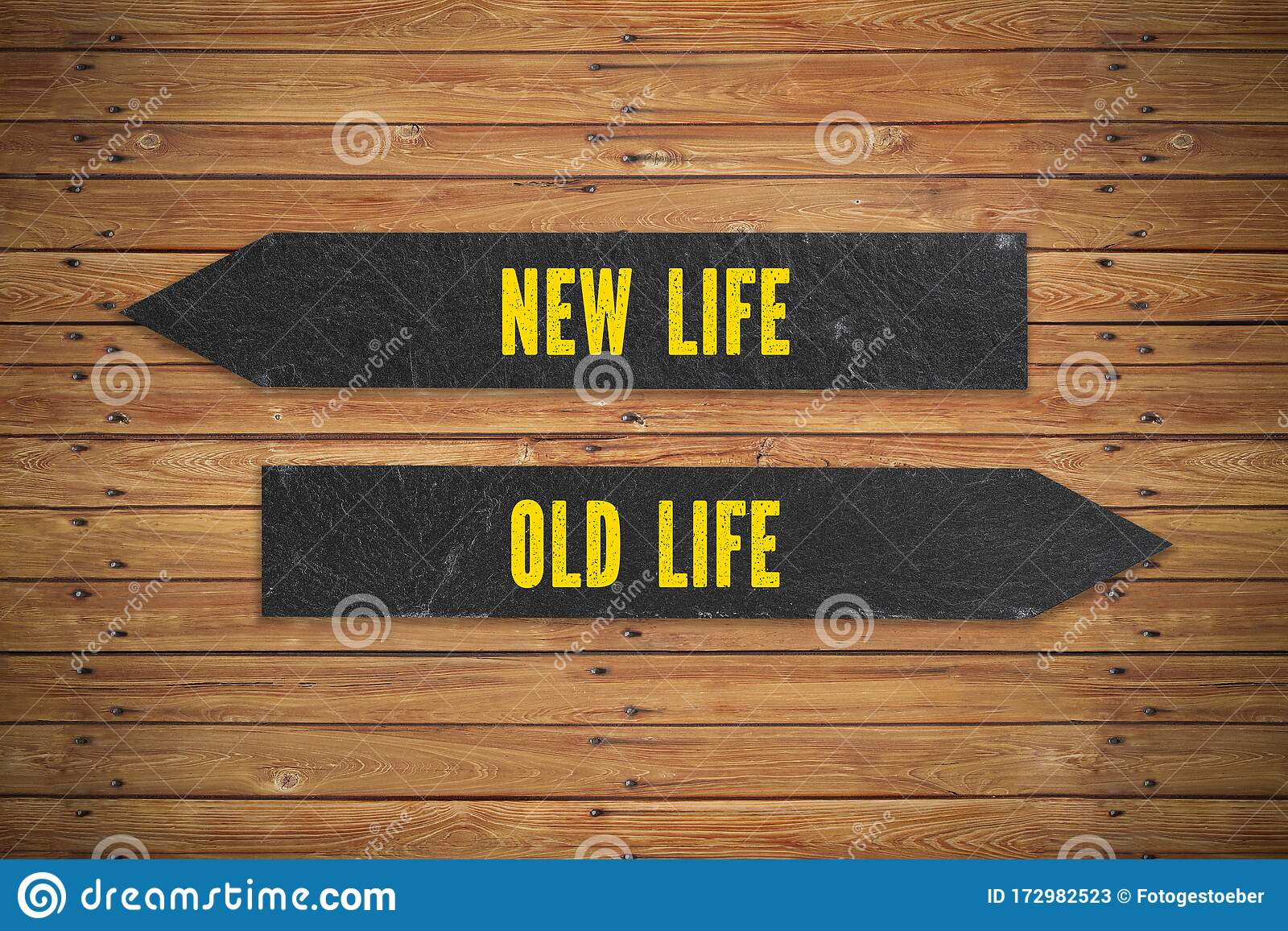 New Life Versus Old Life Concept Stock Image