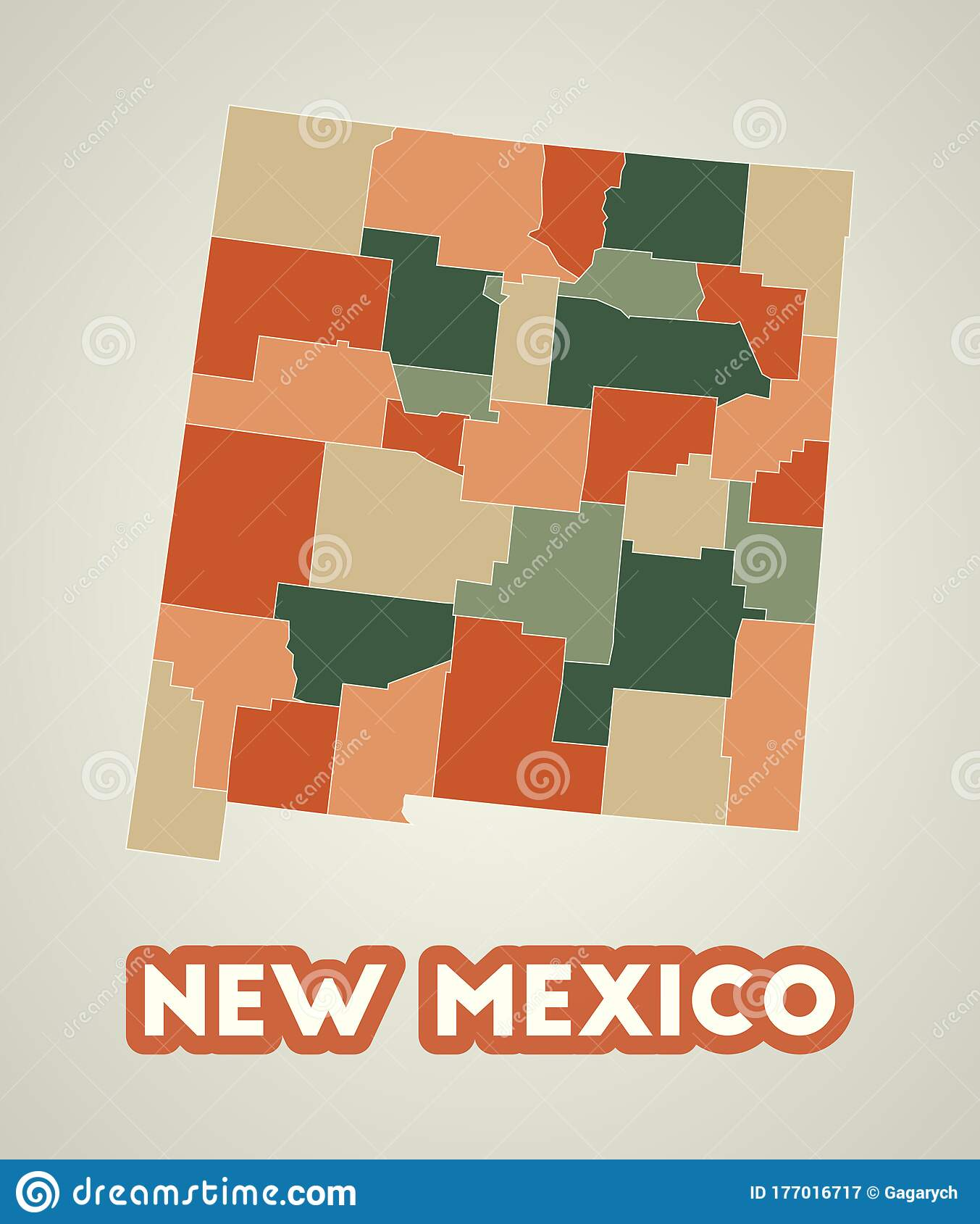 new mexico poster in retro style stock vector illustration of country style 177016717