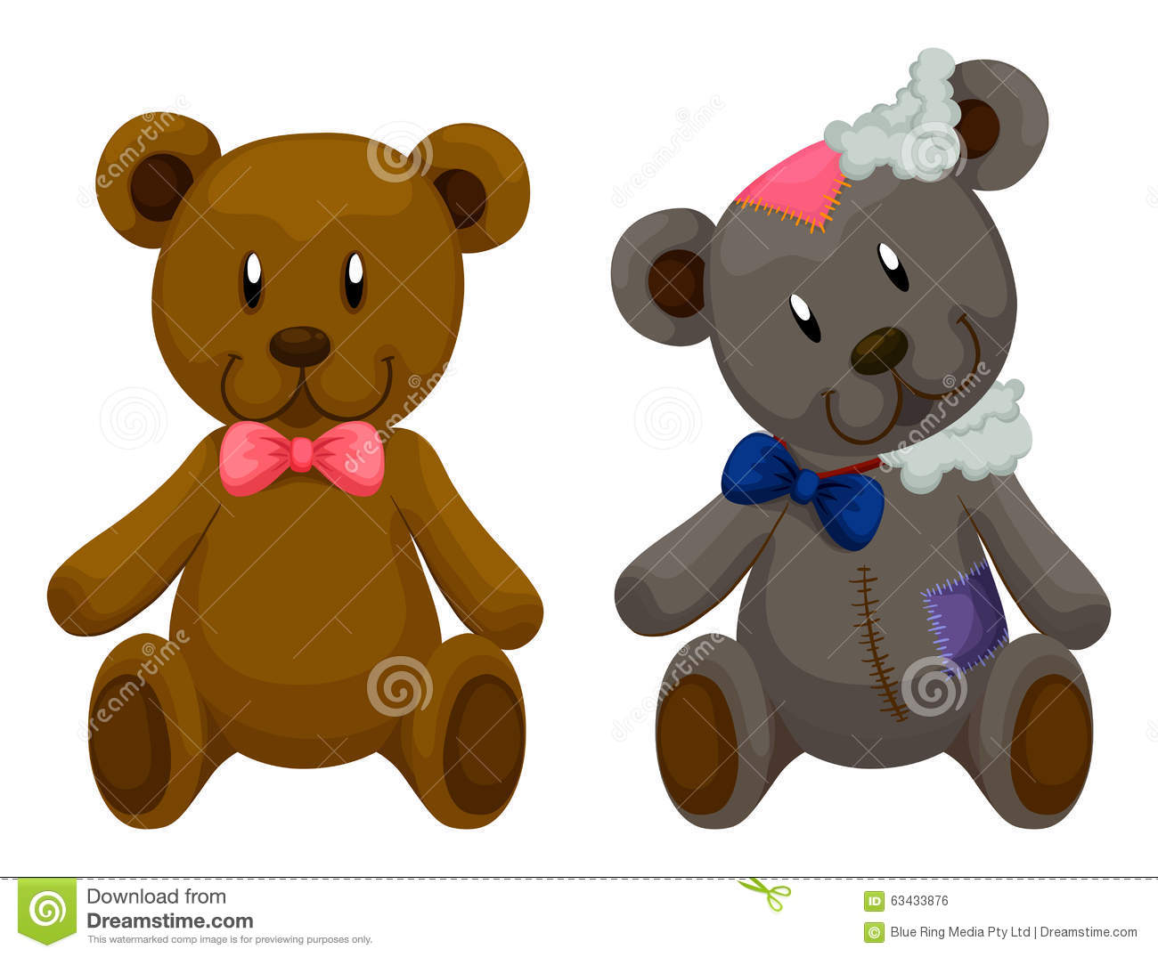 New And Old Teddy Bears Stock Vector Illustration Of Ugly