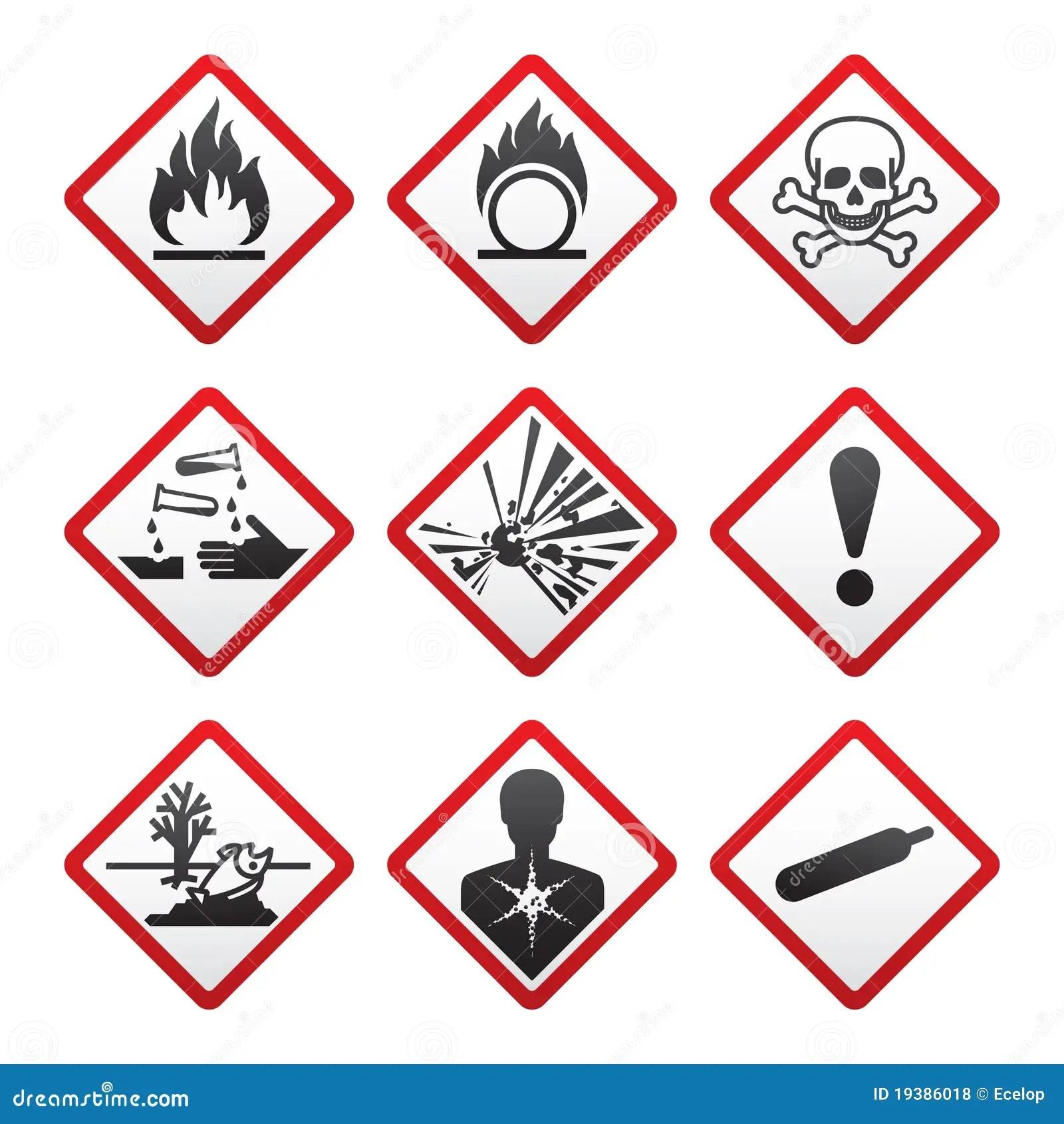 New Safety Symbols Royalty Free Stock Photos