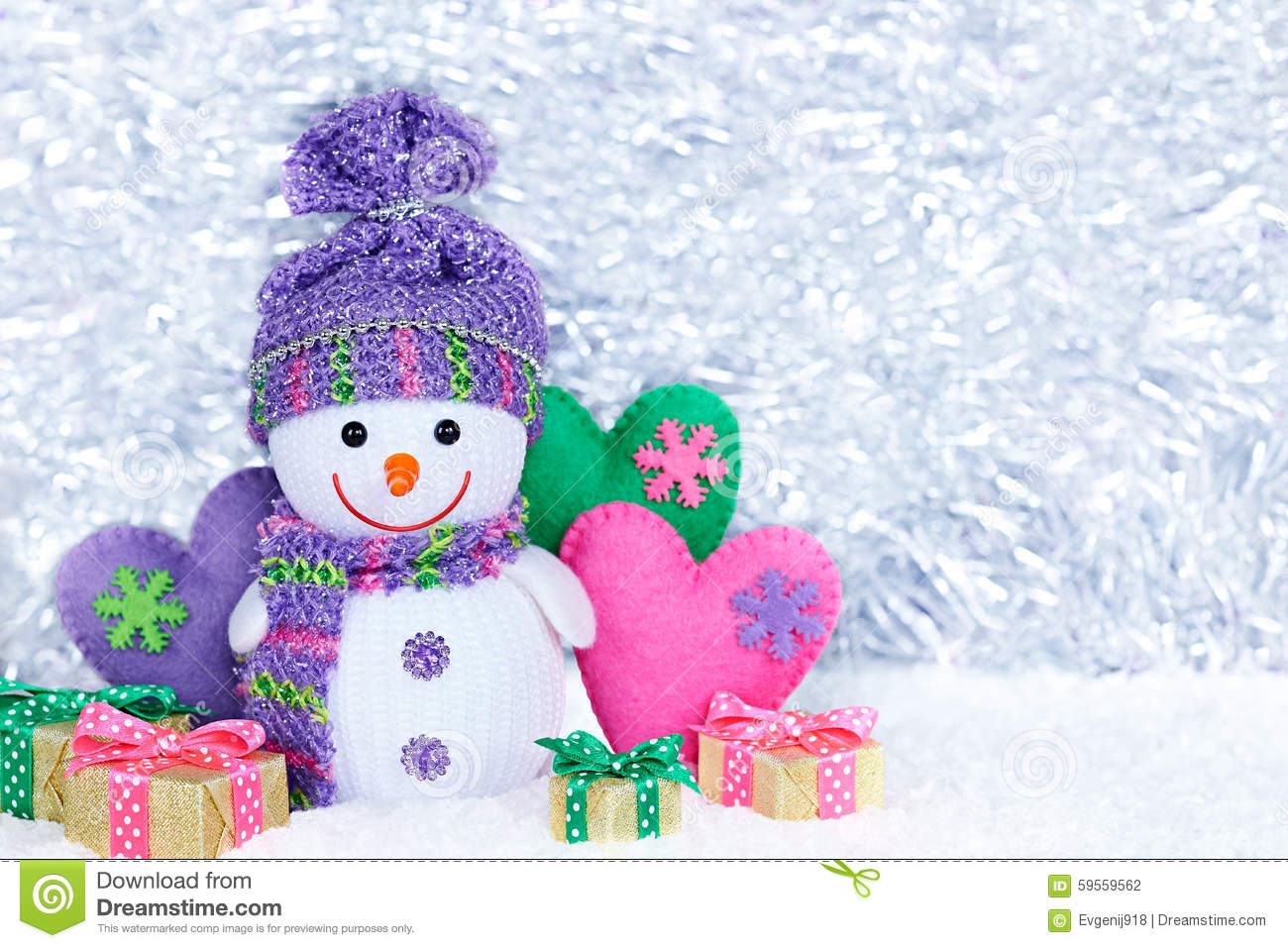 New Year Happy Snowman On Snow Party Decoration