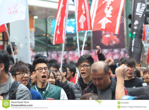 New Year Marches 2013 In Hong Kong Editorial Stock Photo ...