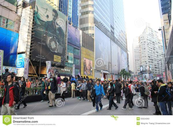 New Year Marches In Hong Kong 2014 Editorial Stock Photo ...