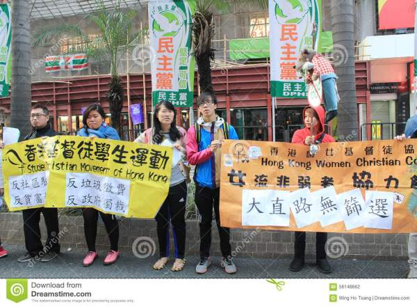 New Year Marches In Hong Kong 2014 Editorial Photography ...