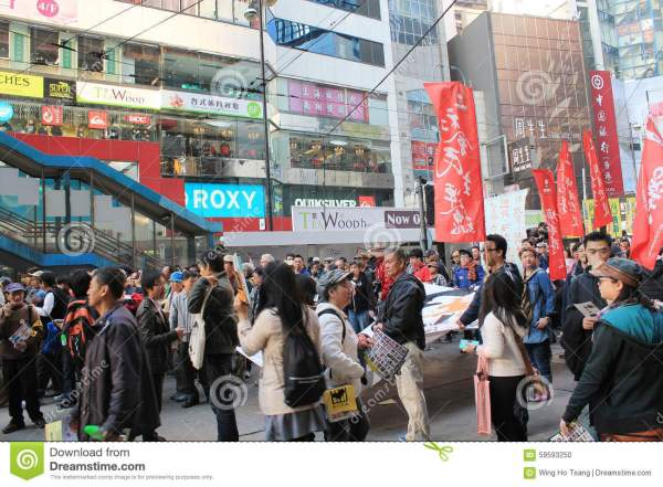 New Year Marches In Hong Kong 2014 Editorial Image - Image ...