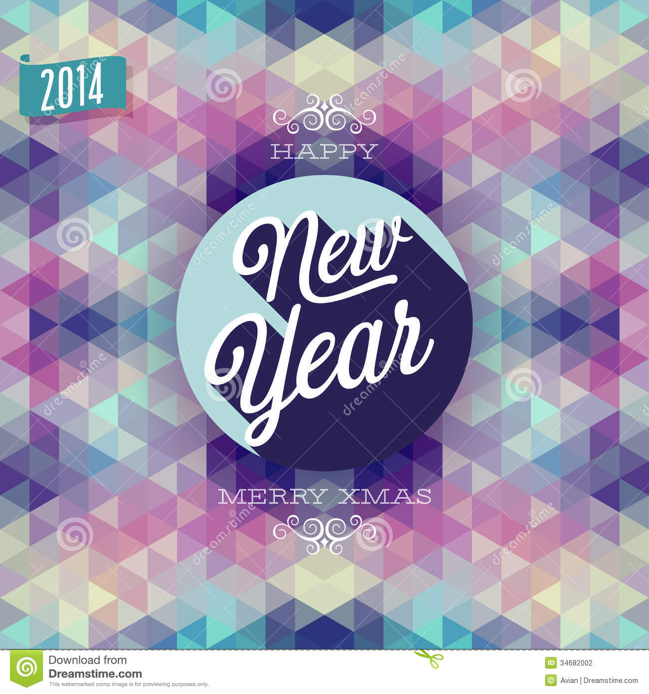 New Year Poster  stock vector  Illustration of decoration   34682002 Download New Year Poster  stock vector  Illustration of decoration    34682002