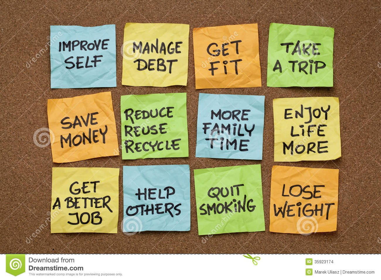 New Year Resolutions Stock Photo Image Of Learn