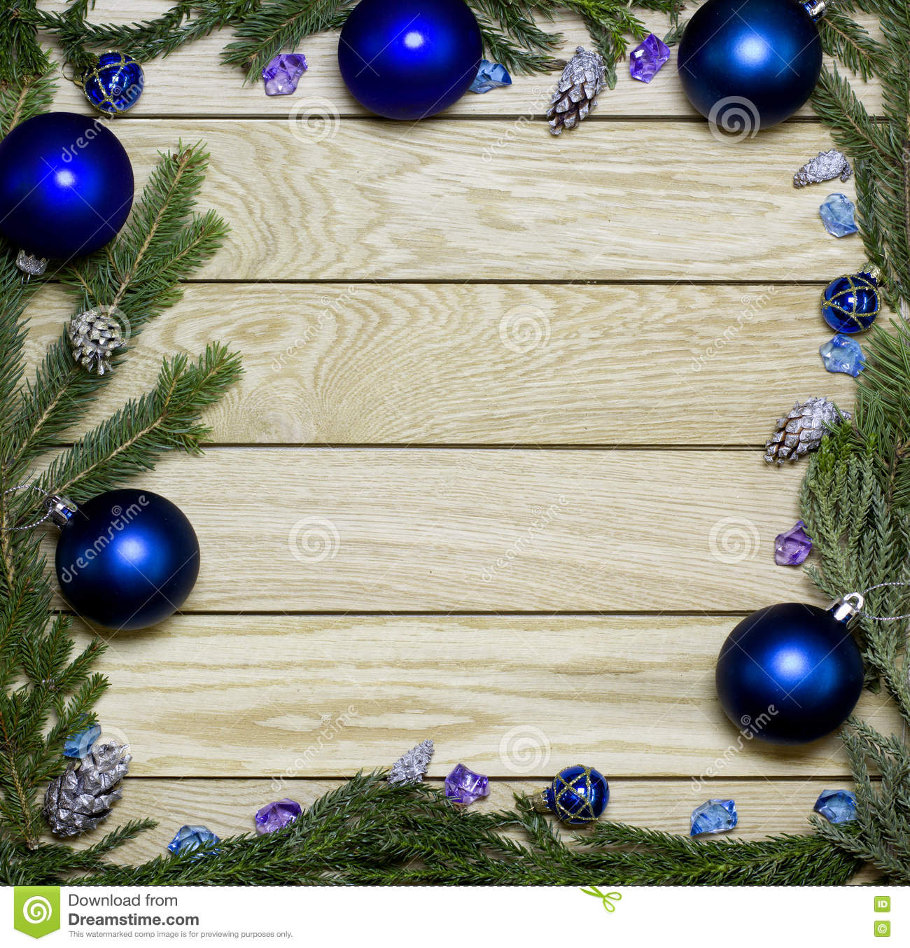 New Year s Border Frame  Christmas Wooden Background  Stock Photo     Download comp