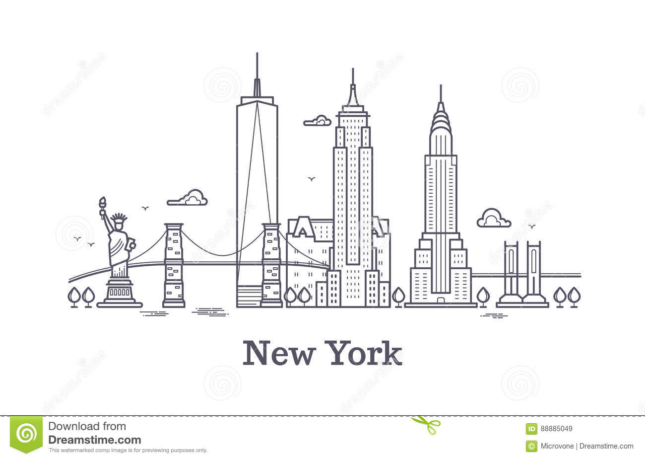 New York City Background Concept Stock Photo