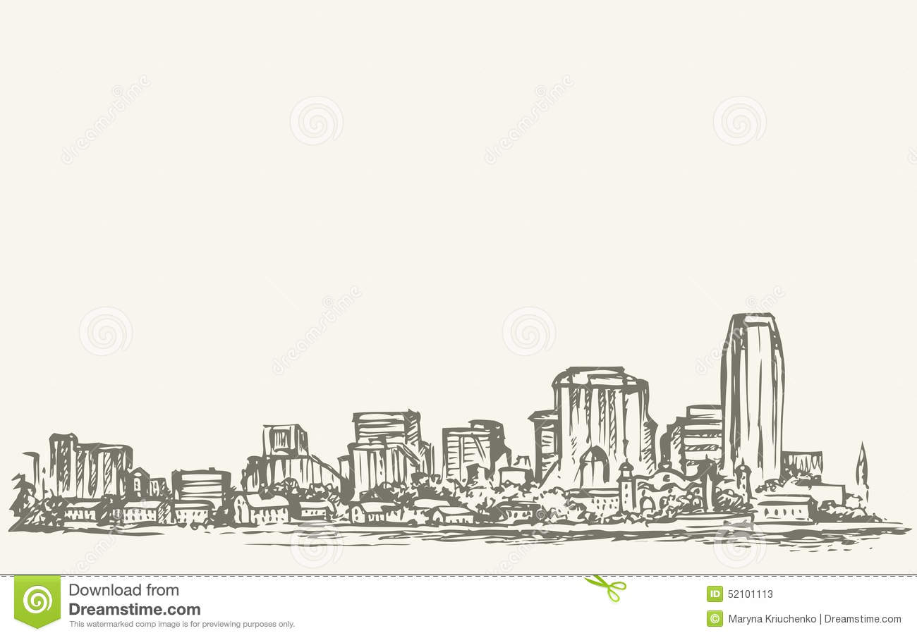 New York City Vector Sketch Stock Vector
