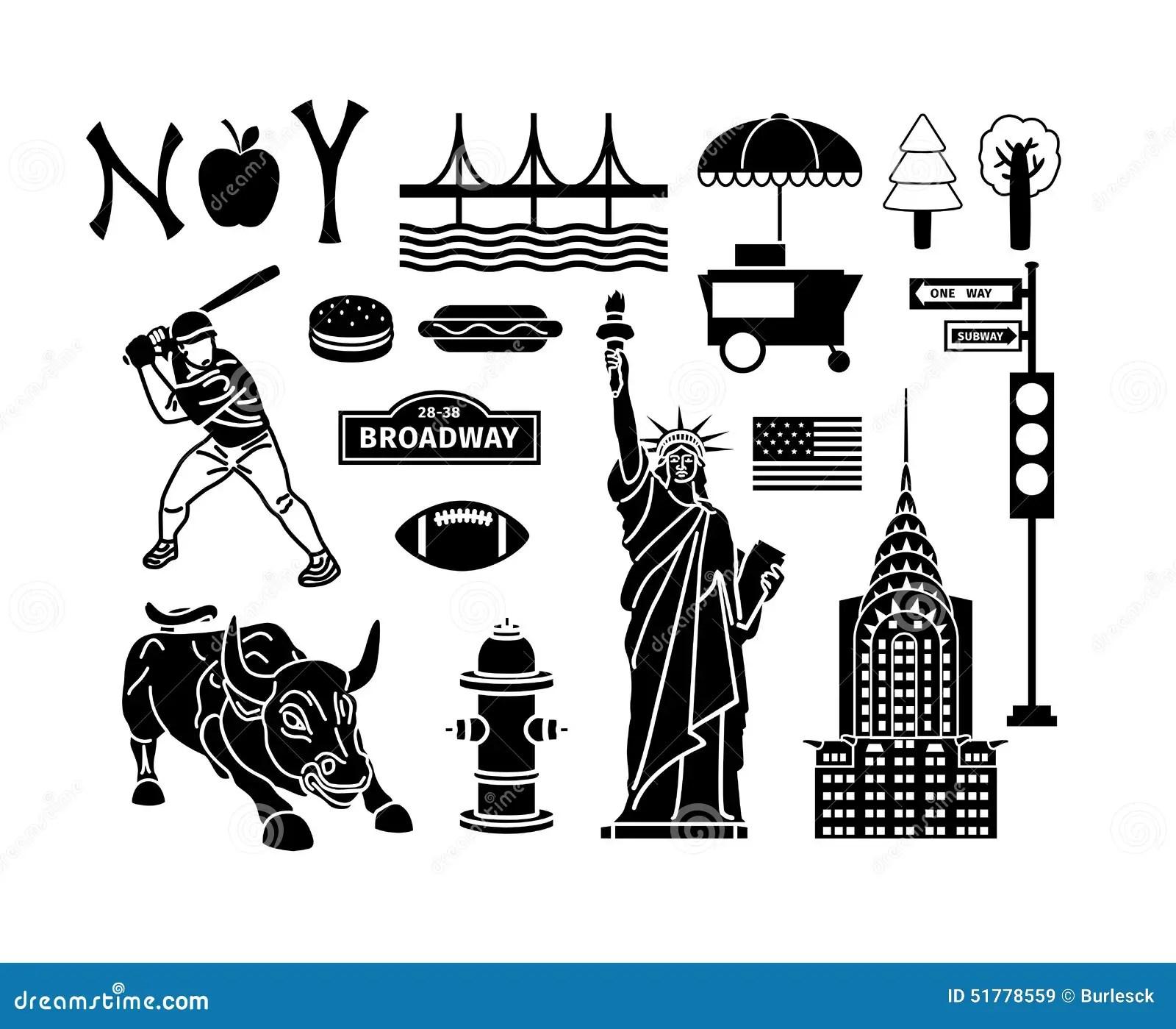 New York Icons Stock Vector