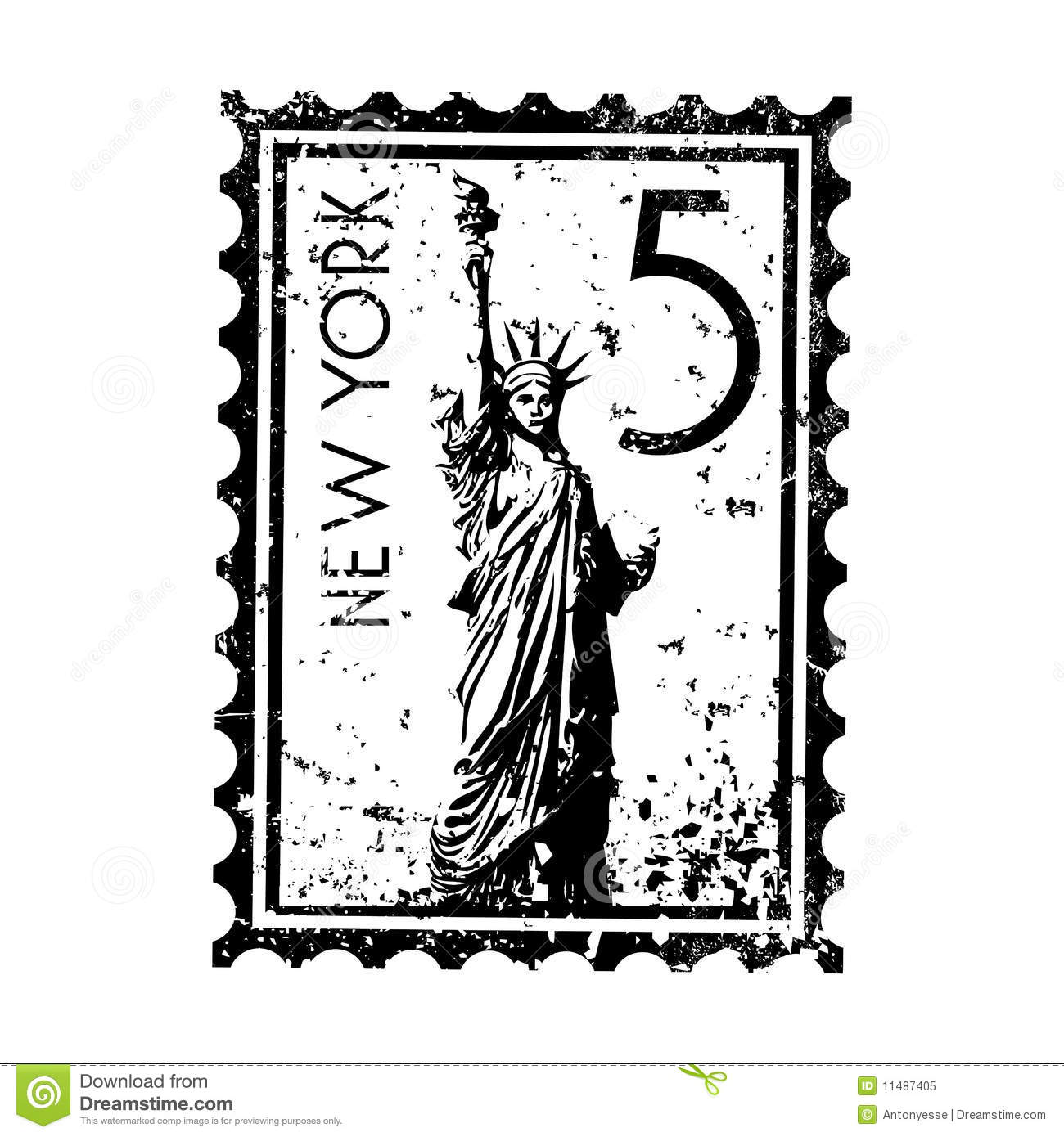 New York Stamp Or Postmark Style Grunge Royalty Free Stock