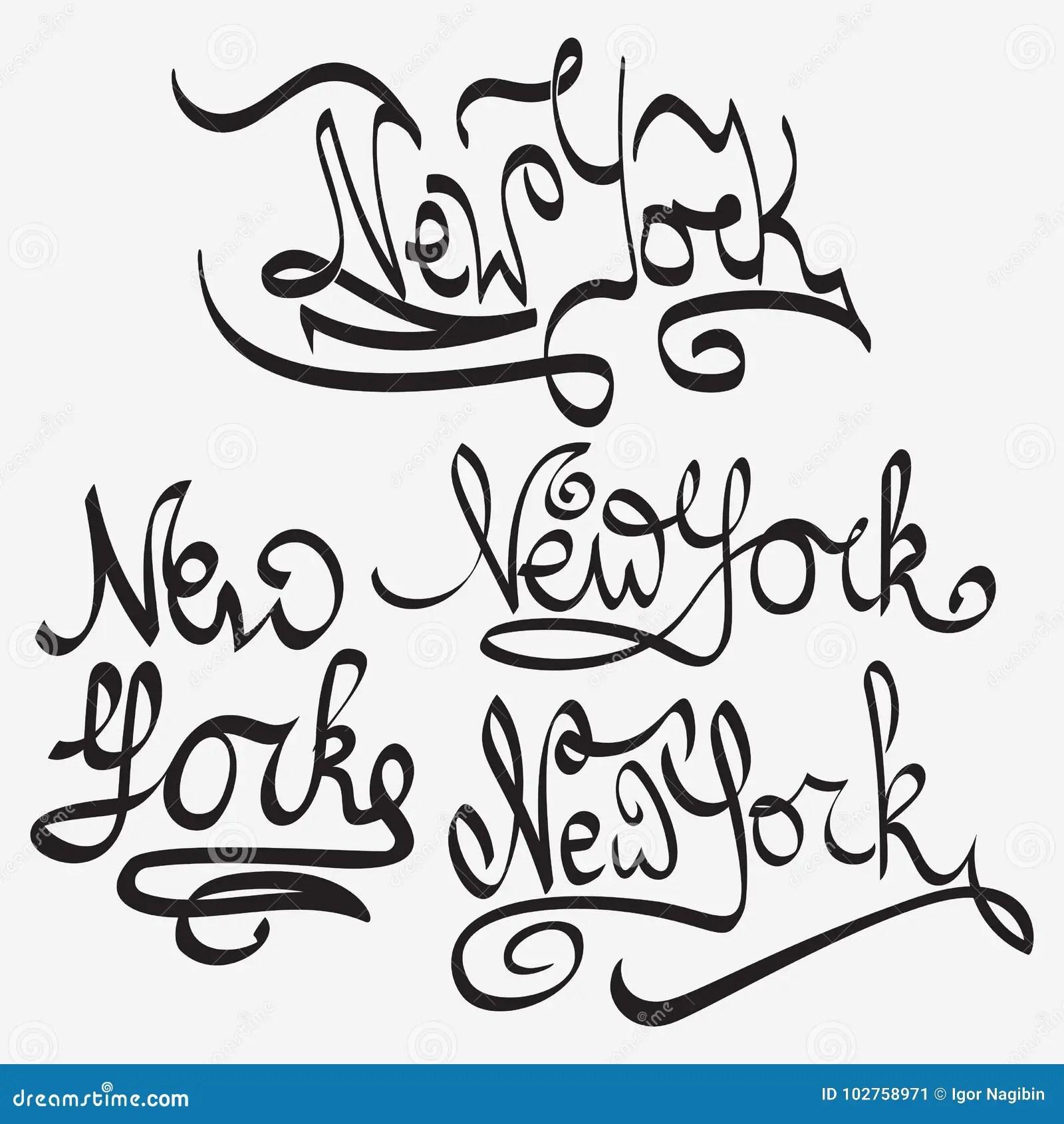 New York Typography Handmade Writing Set Stock