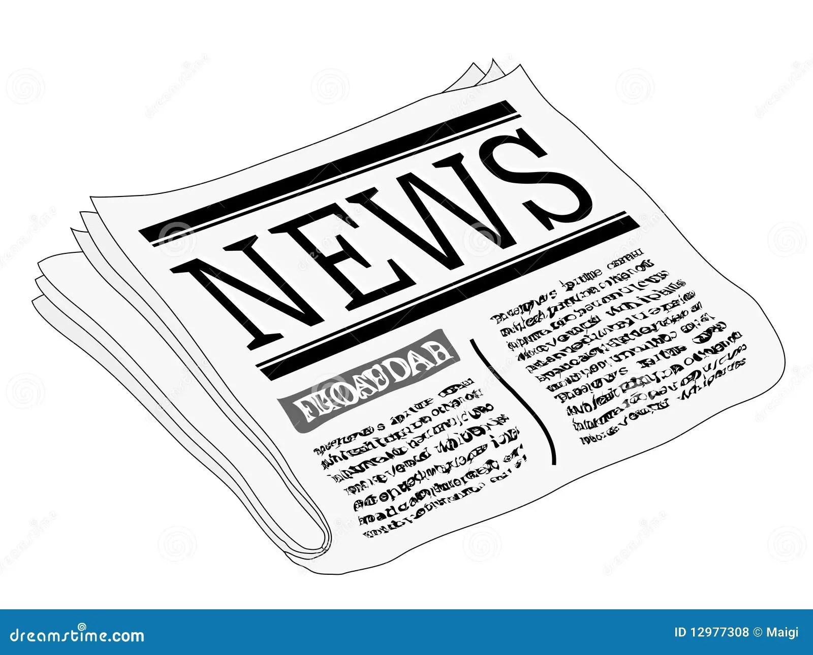 Newspaper Stock Vector Illustration Of Published
