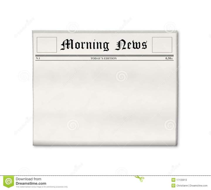 Free Blank Newspaper Template. Newspaper Page Layout. View Original ...