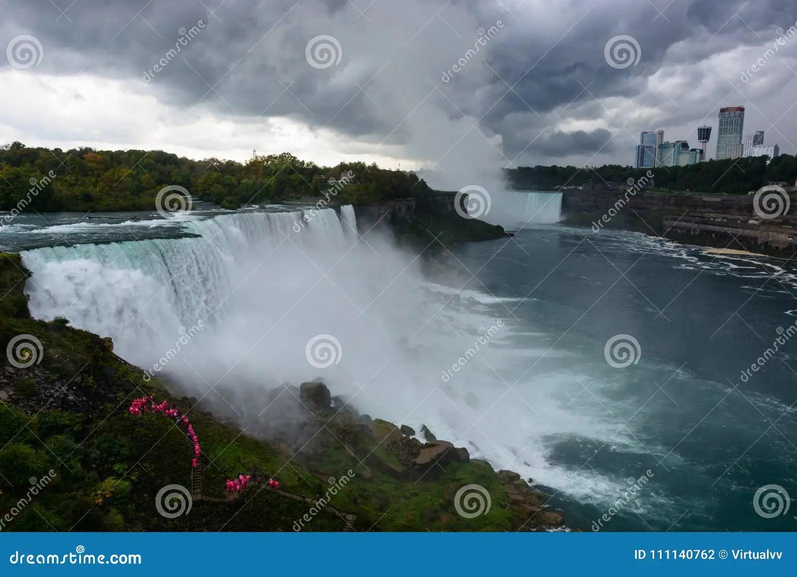 Niagara Falls Usa Side Stock Photos