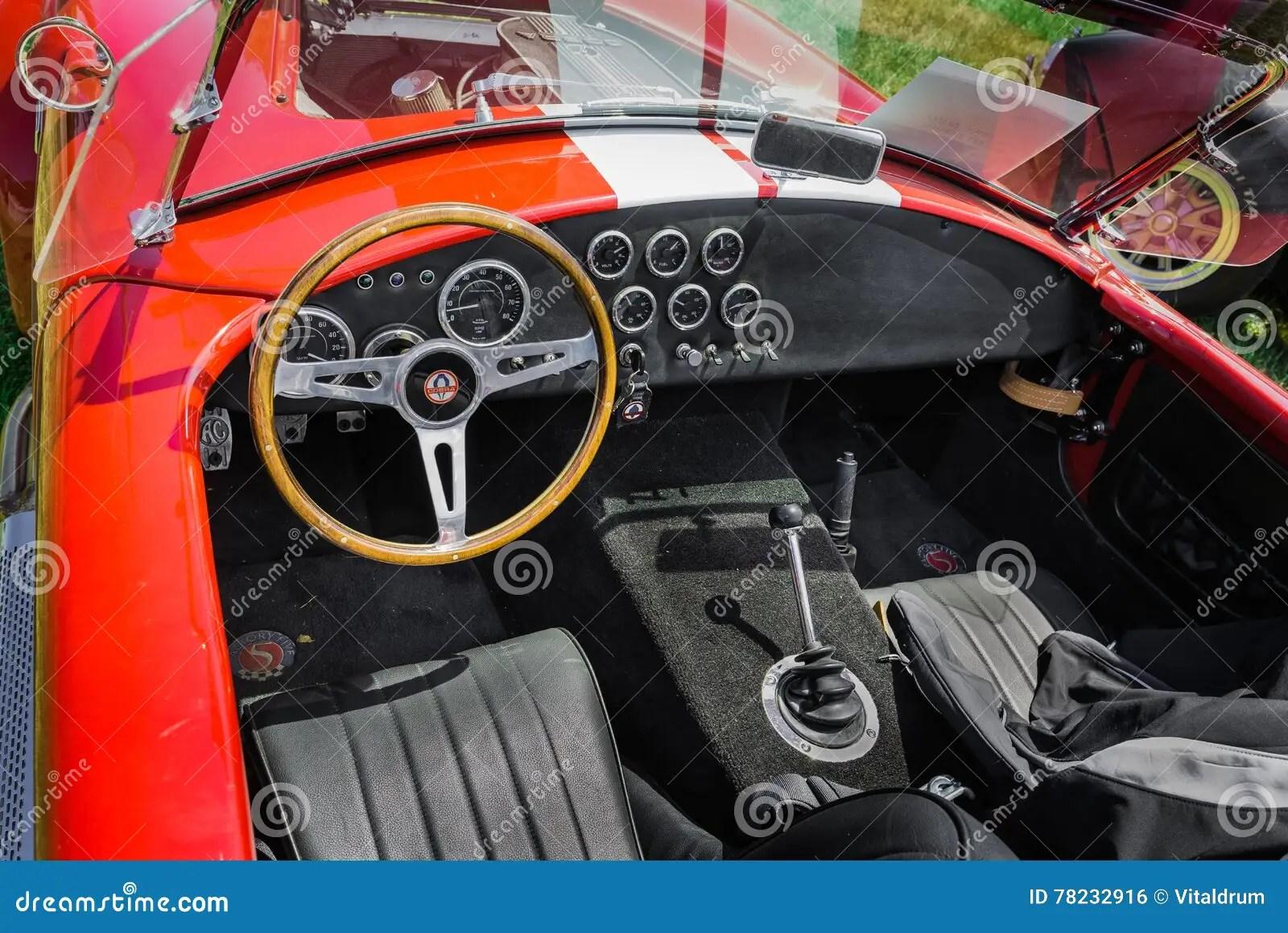 Nice Amazing Closeup View Of Classic Vintage Sport Car