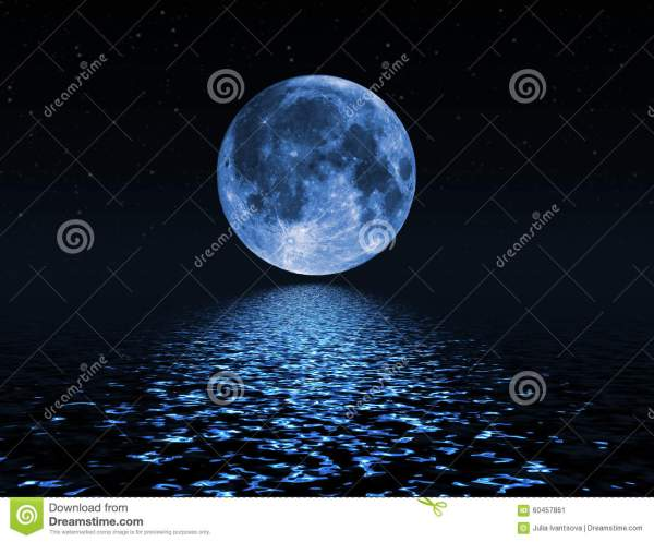 Night Sky With Stars And Full Moon Background Stock Image