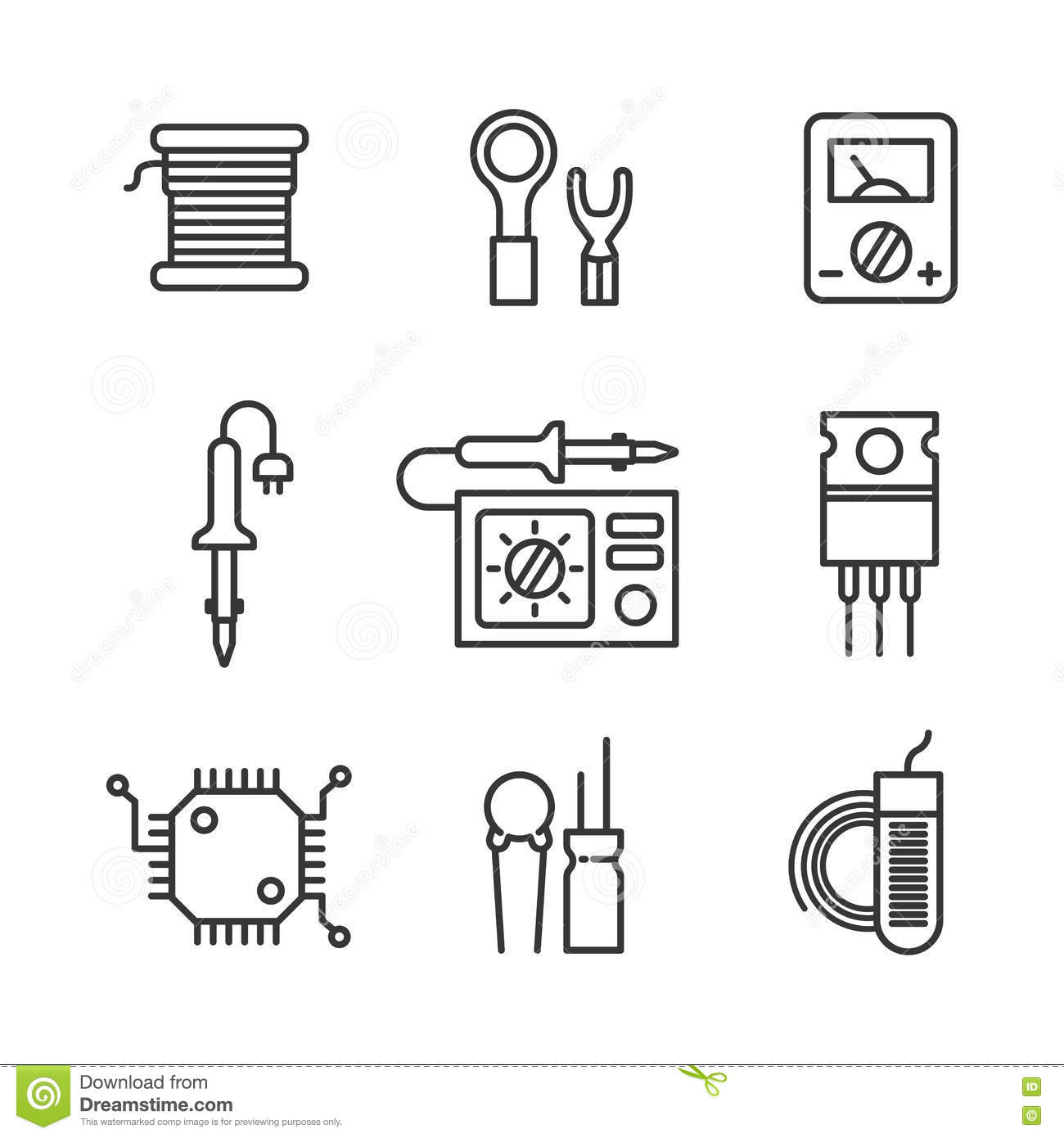 Micro Electronic Components Royalty Free Stock Image